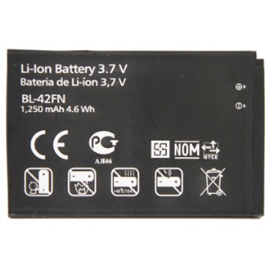 Replacement Rechargeable BL-42FN Li-ion Battery for LG Optimus Me P350
