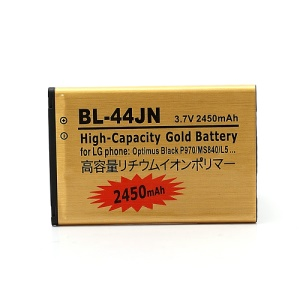 2450mAh BL-44JN Battery Backup for LG Optimus Black P970 / L5 E610 E612 / Connect 4G MS840 / Enlighten VS700 / Marquee LS855 / MyTouch E739 / Optimus Slider LS700 (high capacity)