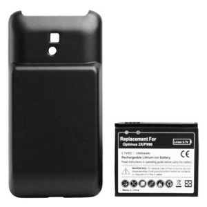 3500mAh Rechargeable Li-ion Extended Battery with Modified Battery Cover Door for LG Optimus 2X P990