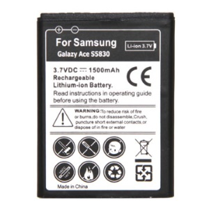 Samsung Galaxy Ace S5830/S5660/S5670/I579/I569/S7500/S7250D Rechargeable Li-ion Battery Replacement 1500mAh