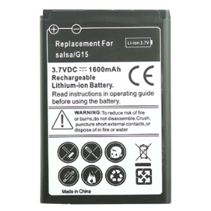 Rechargeable 1600mAh Li-ion Battery Replacement for HTC Salsa G15 (C510e)
