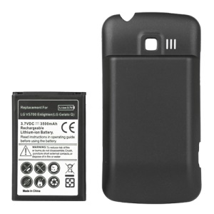 LG Enlighten VS700 Extended Battery with Battery Cover Door 3500mAh