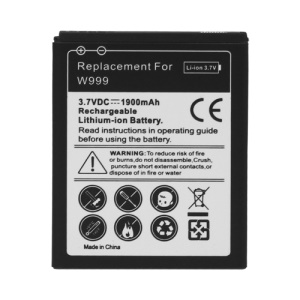 Samsung W999 Battery Replacement 1900mAh, Model: EB445163VU