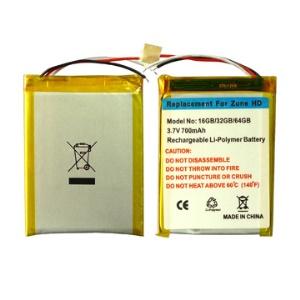 700mAh Replacement Li-polymer Battery for Microsoft ZUNE HD 16GB 32GB