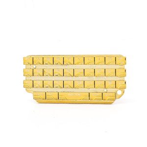 Plating Gold Qwerty Keyboard Keypad for BlackBerry Porsche Design P9981 OEM
