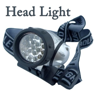Waterproof 19 LEDs Head Lamp Light Torch Headlight