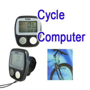 Bike Bicycle LCD Cycle Computer Odometer Speedometer +cable