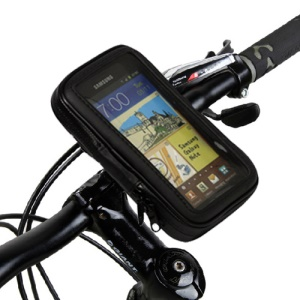 "Waterproof Motorcycle Bike Handlebar Mount Holder 5.3"" for Samsung Galaxy Note I9220 I717"