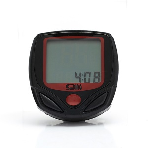 SD-548B LCD Display Cycling Bicycle Computer Odometer Speedometer Black and Red