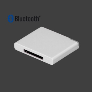 Bluetooth Music Audio Receiver Adapter for iPod For iPhone 30-Pin Dock Speaker - White