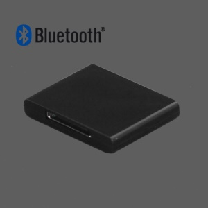 Bluetooth Music Audio Receiver Adapter for iPod For iPhone 30-Pin Dock Speaker - Black