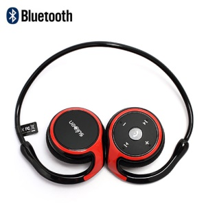 Suicen AX-610 Neckband Wireless Bluetooth V2.1+EDR Stereo Headset with Microphone - Red