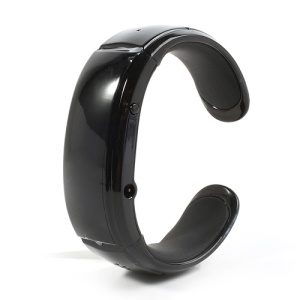 Stylish Wireless Bluetooth Watch LED Bracelet Vibration Alert Caller - Black