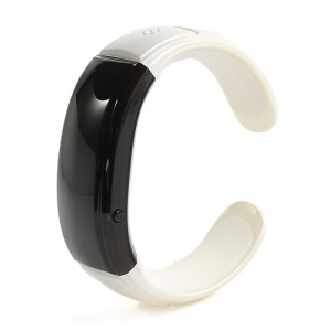 Stylish Wireless Bluetooth LED Bracelet Watch Vibration Alert Caller - Black / White