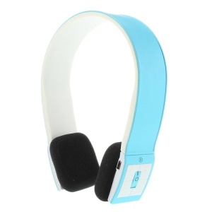 Fashion Wireless Bluetooth V3.0 Stereo On-Ear Headset Headphone with Microphone - Blue