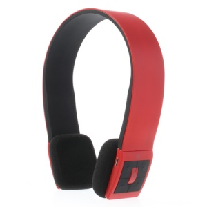 Fashion Wireless Bluetooth V3.0 Stereo On-Ear Headphone with MIC - Red