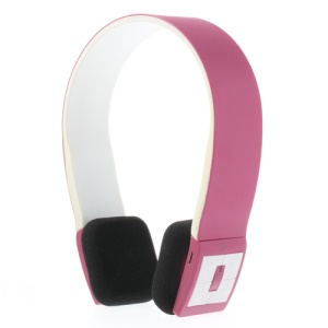Fashion Wireless Bluetooth V3.0 Stereo On-Ear Headset with Microphone - Rose