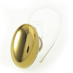 Suicen SX-967 Gemstone Shape Plating Bluetooth V3.0 Handsfree Stereo Earphone Headset - Gold