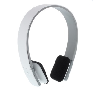 On-ear Sports Bluetooth Headset with AUX Play Function (BQ-618) - White