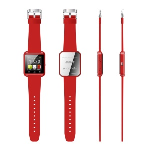 Red Fahion Bluetooth Smart Wristwatch U8 U Watch, Support Message, Anti-lost Alarm, Barometer, Altimeter Etc.
