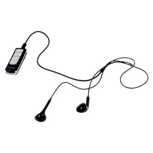 FineBlue I5S 2 in 1 Bluetooth 4.0 Receiver + Dual Mic Noise Isolation Stereo Headset - Black