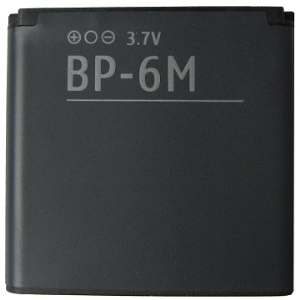 Cell Phone BP-6M Battery for Nokia N73 N77 N93 9300 6288 6280 6234 6233 6151 3250