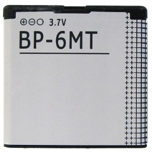 Cell Phone BP-6MT Battery Replacement for Nokia N81 N82 E51 6350 6750