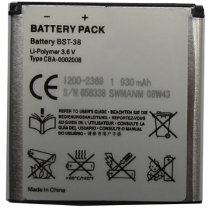 BST-38 Battery for Sony Ericsson Xperia X10 mini pro / C510 C902 C905 K770 K850 S500 T650 W980 Z770