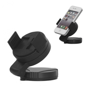 Universal Mobile Phone Windshield Car Holder for Samsung Galaxy S3 i9300 iPhone 4S, Width: 52mm~72mm - Black