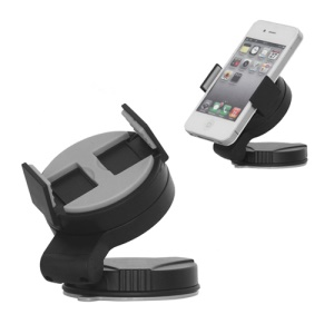Universal Mobile Phone Windshield Car Holder for Samsung Galaxy S3 i9300 iPhone 4S, Width: 52mm~72mm - Grey