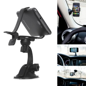 Multi-Direction Clip Style Car Mount Holder Stand for iPhone Mobile PDA GPS PSP XWJ-07HD