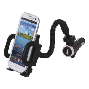 Universal Smartphone Car Mount with USB Car Charger for iPhone BlackBerry HTC Samsung Nokia Motorola etc