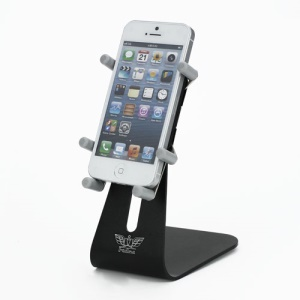 Rotary Aluminum Desktop Stand Mount for iPhone 5 4S 4 iPod Touch 5 etc - Black