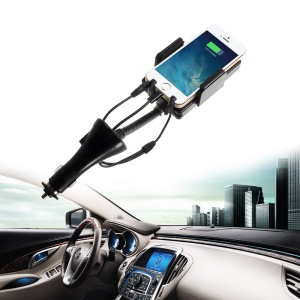 Hands-free Car Charger Holder Mount Kit and FM Transmitter for iPhone 5 iPod Touch 5