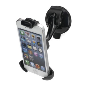 Universal Glossy Car Windshield Mount Holder Cradle for iPhone 5 4S 4 and Other Smartphones, Length: 108mm~135mm