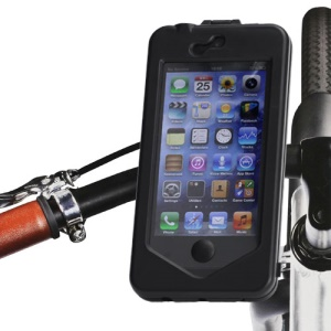 ABS Bike Handlebar Mount Holder Cradle Hard Case for iPhone 5