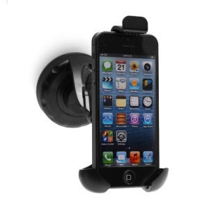 Suction Cup Car Charger Holder Mount for iPhone 5 4S 4 3GS etc, Width: 45-70mm