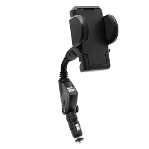 Dual USB Car Charger Cradle Mount Holder for Samsung Galaxy S4 i9500 Galaxy Note 2 N7100, Width: 50mm~115mm