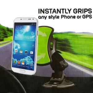 GripGo 360 Degree Pivoting Hands-free Universal Car Phone Mount for iPhone iPod Samsung HTC Mobilephone GPS etc