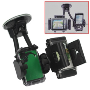 Powerful XP-A8 Double Flexible Car Windshield Mount Holder for GPS PDA Smartphone