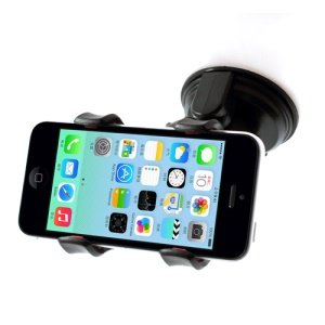Black Car Suction Cup Universal Mount Holder for iPhone 5s 5c 5 4s 4 iPod Samsung Sony GPS