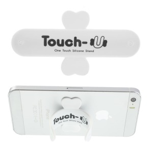 Universal Portable Touch U One Touch Silicone Stand for iPhone Samsung HTC Sony Mobile Phones Tablets - White