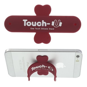 Universal Portable Touch U One Touch Silicone Stand for iPhone Samsung HTC Sony Mobile Phones Tablets - Red