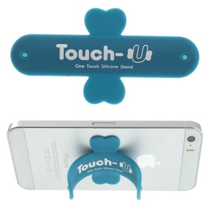 Universal Portable Touch U One Touch Silicone Stand for iPhone Samsung HTC Sony Mobile Phones Tablets - Blue