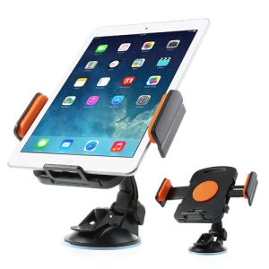 Orange Universal 360 Degree Rotating Car Holder for 7-11 inch Tablet, width: 92mm-205mm