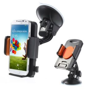 Orange Universal 360 Degree Rotating Car Holder for 4.3-7.8 inch Smartphones Tablet, width: 58-125mm