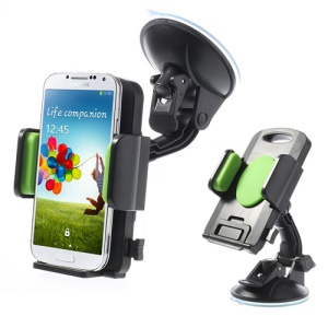 Green Universal 360 Degree Rotating Car Holder for 4.3-7.8 inch Smartphones Tablets, width: 58-125mm