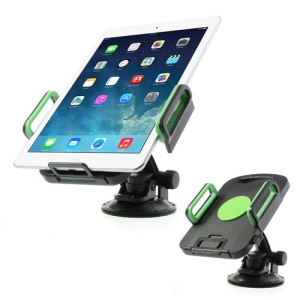 Green Universal 360 Degree Rotating Tablet PC Car Holder, width: 96mm-187mm