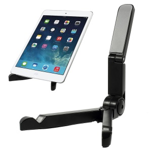 Black Universal Foldable Tablet Support Stand for iPad / Galaxy Tabs / Kindle etc.