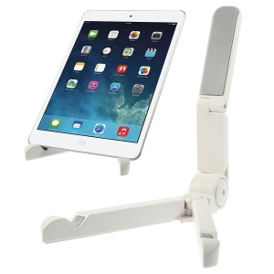 White Universal Foldable Tablet Support Stand for iPad / Galaxy Tabs / Kindle etc.